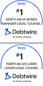 Debtwire Awards Cahill Top Spots in H1 2020 League Tables